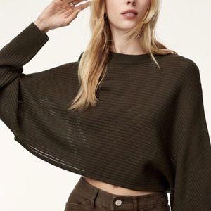 Aritzia Wilfred Lolan crop sweater